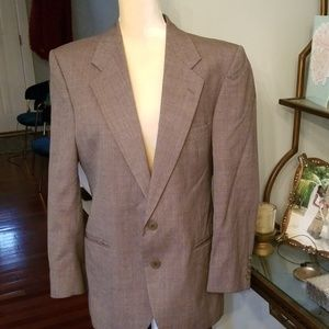 Yves Saint Laurent Mens Tan/Gray Blazer Sz.40S
